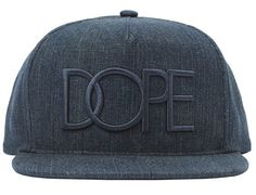 Distressed Denim 3D Snapback Cap by DOPE