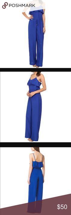 Michael Kors Electric Blue Jumpsuit! Brand new Michael Kors blue ruffled jumpsuits , size S ! Very Elegant and comfy ! Michael Kors Pants Jumpsuits & Rompers