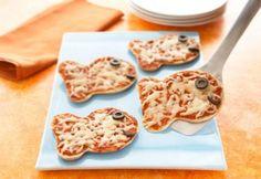 Pizza em formato de peixinho para crianças