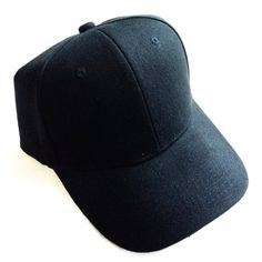 New Black Baseball Cap Hat New Black Baseball Cap Hat. One size fits all with adjustable Velcro strap on back. These are new and never worn. Made of 100% acrylic. --- BUNDLE THIS ITEM WITH ANOTHER ITEM FROM MY CLOSET AND GET IT AT $7. Other