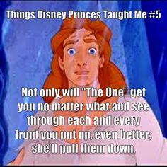 Things Disney Princes Taught Me - Prince Adam.  Fiyero also taught me this.