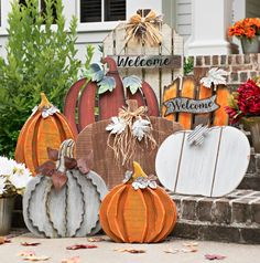 Front porch decor doesn't have to be complicated. Check out our full blog post for updating your front porch for fall!