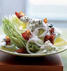 Blue cheese wedge salads with bacon - Yum! Dan and I have been loving these lately!