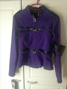 "Gangsta Pranksta ""Anita"" jacket in purple in L"