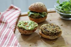 quinoa & black bean burger with a smoky avocado spread - what's cooking good looking - a healthy, seasonal, tasty food and recipe journal