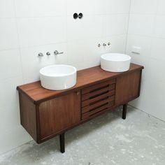 Vintage meubel als badkamermeubel