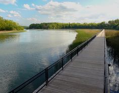 Looking down at the boardwalk @ Turning Point Park, Rochester, NY by -dangler, via Flickr