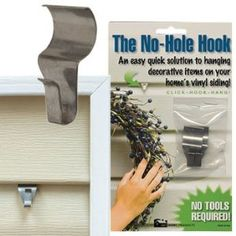 How to hang things on vinyl siding without damage. It says it holds 12 lbs. This is what I was talking about.