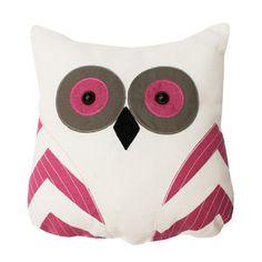 Tootsie Owl Pillow Fuchsia, $28, now featured on Fab.