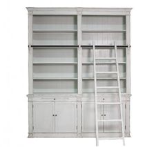 Must have for my new house!! Bookcase Ladder 2 Partition Wht. A Block and Chisel Product.