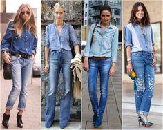 tendência dupla jeans all jeans total jeans fashion moda estilo style borboletas na carteira-2