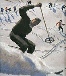 Vintage travel poster Austria - Alfons Walde: Bizz mit Kitz
