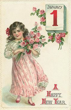 Image discovered by Find images and videos about vintage new year card on We Heart It - the app to get lost in what you love. New Year Greeting Cards, New Year Greetings, New Year Card, Vintage Greeting Cards, Vintage Ephemera, Vintage Postcards, Vintage Images, Vintage Labels, Vintage Clip