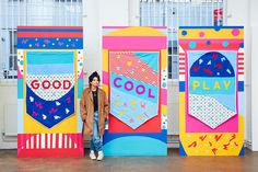 Graphic design helps women: BBH's Aine Donovan explains how Environmental Graphic Design, Environmental Graphics, Display Design, Booth Design, Art Public, Mural Wall Art, Exhibition Booth, Book Design Layout, Design Graphique