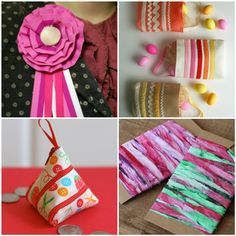 Ribbon Week! How could you possibly be over so soon? We hope that you are inspired to work some ribbon into your next project. We have had a blast coming up with new ribbon-y tutorials and bringing back some of our favorites but we, of course, aren't the only ones getting crafty with ribbon. Here are a few more ribbon projects from around the web.Maybe mom deserves a DIY first place ribbon instead of a corsage this Easter. This mom says Yes, Please! Although I will also accept a corsage an