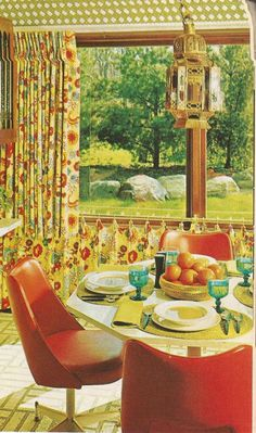 home decorating, 1970s,