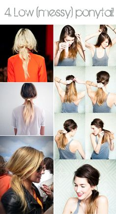 Just daily things: Top 4 hair do's: braids, buns & ponytails + how to do it yourself!