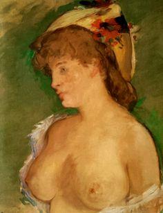 "favoritus: ""Jovem loira de seios nus"", 1878 de Manet"