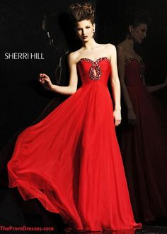 2015 Customized Dress 2845 Beaded Neck Pleated Long Red Prom Dresses
