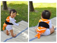 The Cheese Thief: Easy Halloween DIY Sushi Costume. Sushi is still the best costume idea so far. I really like the little shrimp tail on this tutorial.