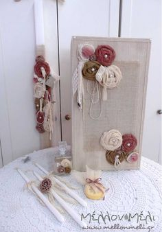 "Set ""HandMade Flowers"" Handmade Flowers, Ladder Decor, Boutique, Home Decor, Homemade Home Decor, Decoration Home, Boutiques, Interior Decorating"