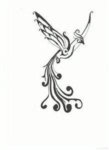 Image result for Simple Feminine Phoenix Tattoos for Women