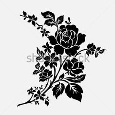 rose-motif-flower-design-elements-vector_164190041.jpg (380×380)