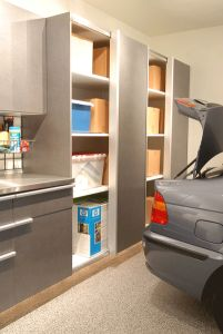 The garage doesn't have to be a home for clutter, give it what you want, organization