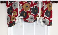 Flower Power Tie-Up Valance - Candy