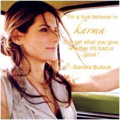 A little Monday motivation, courtesy of Sandra Bullock ♥