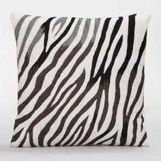 Zebra Chain-Stitch Throw Pillow   World Market