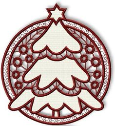 Cutwork Christmas Tree