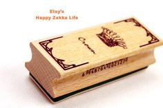 Rectangle Wooden Rubber Stamp  01 Crown  1 Piece by zakkalover