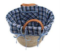 Decorar una cesta con tela | costurea.es/blog/