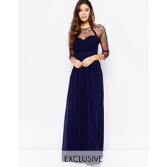 Little Mistress Mesh Sleeve Embellished Maxi Dress ($147) ❤ liked on Polyvore featuring dresses, navygunmetal, fitted maxi dress, embroidered maxi dress, white empire waist dress, mesh maxi dress and tall maxi dresses