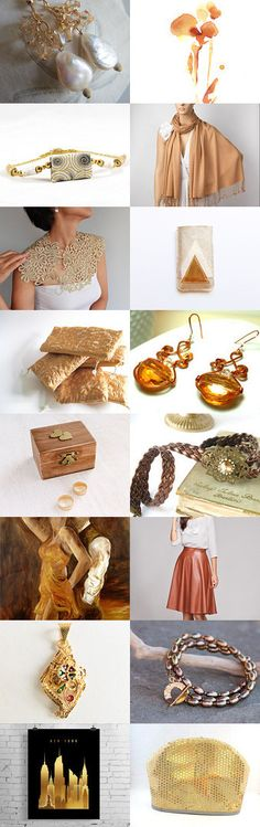 Golden Touches by Rosa on Etsy--Pinned with TreasuryPin.com