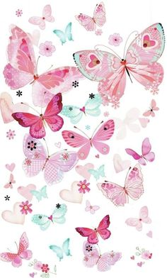 Pink butterfly background PNG and Clipart