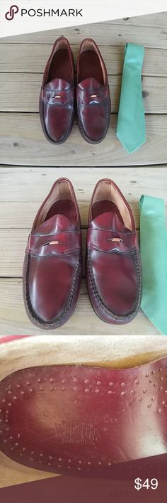 OriginalWeejuns by GH Bass Weejuns - The Original Penny Loafers  by GH Bass, The Color is a Deep Merlot. These are Pre- Loved,  but They are Almost Indestructible.  Hubby just doesn't Have to go to the Office much anymore. These are for a Sharp Dressed Man! G.H. Bass Shoes Loafers & Slip-Ons