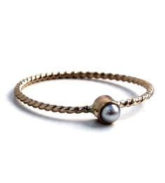 Gold Pearl Stacking Ring | Jewelry Rings | Lumo | Scoutmob Shoppe | Product Detail
