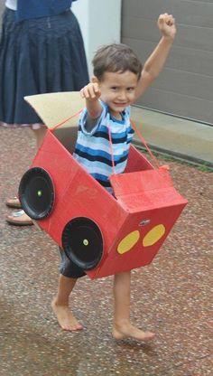 Auto knutselen van een doos, super leuk idee!