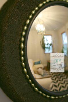 DIY Convex Mirror Tutorial using styrofoam wreaths by DIY Showoff.com
