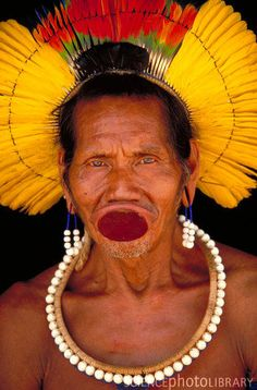 Kayapo Tribesman From Para Tribes Of The World, We Are The World, People Around The World, We The People, The Tribe Has Spoken, Arte Plumaria, Brazil Men, Amazon People, Amazon Tribe