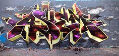 Asuem (by Geser) Graffiti Piece, Street Art Graffiti, Wildstyle, Hip Hop Art, Graffiti Alphabet, Various Artists, Banksy, Word Art, Sketches