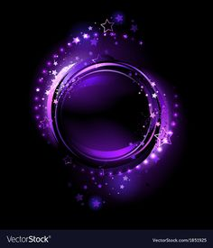 Purple round banner vector image on VectorStock Wallpaper Nature Flowers, Love Wallpaper, Iphone Wallpaper, Free Vector Images, Vector Free, Full Hd Wallpaper Download, Angel Vector, Black Background Images, Rainbow Painting