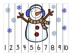 Winter Fun Counting Number Puzzles - Kindergarten Smarts - Winter fun counting number puzzles – counting by and – differentiated for all lear - Counting Puzzles, Number Puzzles, Maths Puzzles, Skip Counting, Winter Crafts For Kids, Winter Fun, Winter Theme, Numbers Preschool, Kindergarten Activities