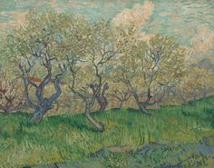 Van Gogh, Orchard in Blossom, April 1889 Oil on Canvas at Van Gogh Museum Amsterdam