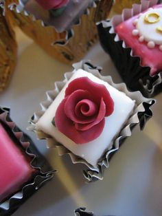 Golden Wedding petit fours by Bath Baby Cakes, via Flickr