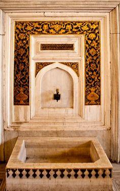 Ritual Foot Bath in Topkapi Palace