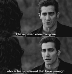 Jake Gyllenhaal as Jamie Randall in Love & Other Drugs Sad Movie Quotes, Romantic Movie Quotes, Sad Movies, Favorite Movie Quotes, Indie Movies, Favorite Things, Drug Quotes, Film Quotes, Mood Quotes