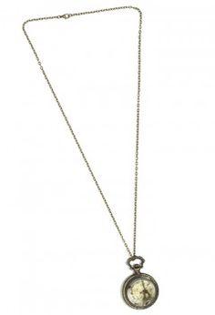 Eiffel Tower Watch Pendant Necklace - Retro, Indie and Unique Fashion